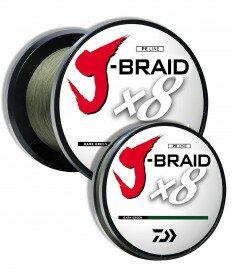 Daiwa X8 J Braided Line - Color Dark Green