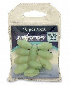 Luminous Glow Beads - 10 Pack - 2.8mm I.D. - Green