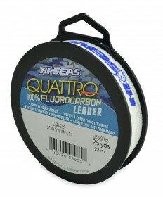 Hi-Seas Quattro Fluorocarbon Leader Material - 25 Yards